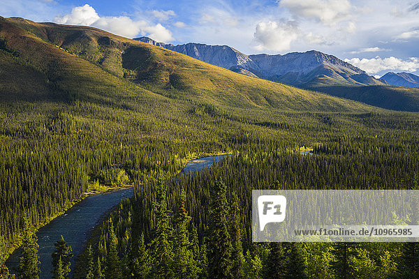 'The Lapie River runs through the wilderness along the South Canol Road; Yukon  Canada'