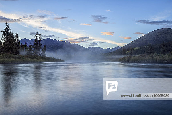 'The Lapie River flows through the wilderness along the South Canol Road; Yukon  Canada'
