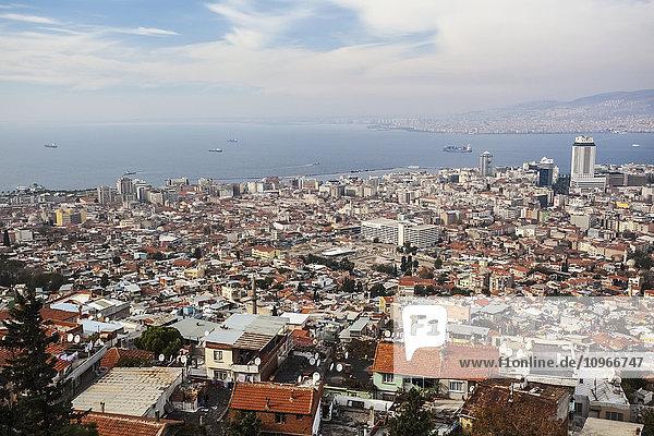 'Modern day Izmir  with a busy port on the Aegean Sea; Izmir  Turkey'