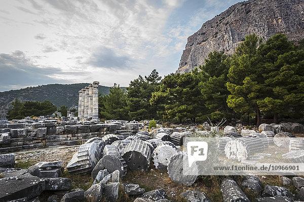 'Ruins of the Sanctuary of Athena; Priene  Turkey'