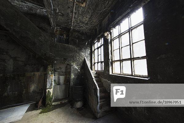 'Inside the old abandoned herring factory; Djupvik  Iceland'