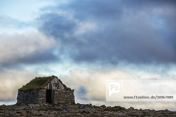 'Abandoned rock and stone house in rural Iceland; Iceland'