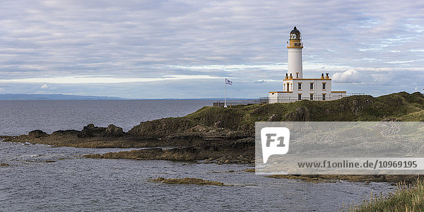 'Lighthouse on the coast; Maidens  Ayrshire  Scotland'