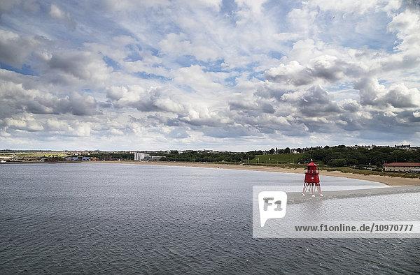 'Herd Groyne lighthouse; South Shields  Tyne and Wear  England'