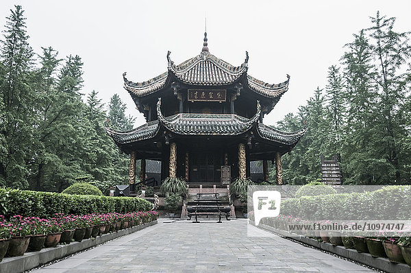 'Taoist temple in Chengdu city center; Sichuan province  China'