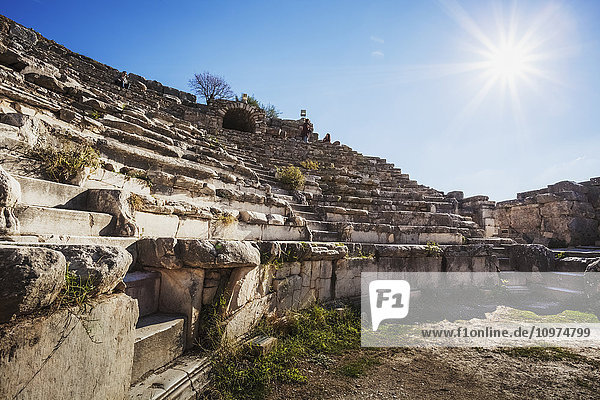 'Ruins of a theatre built in the second century; Ephesus  Izmir  Turkey' 'Ruins of a theatre built in the second century; Ephesus, Izmir, Turkey'
