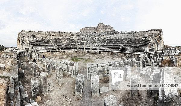 'Ruins of an amphitheatre; Miletus  Turkey' 'Ruins of an amphitheatre; Miletus, Turkey'