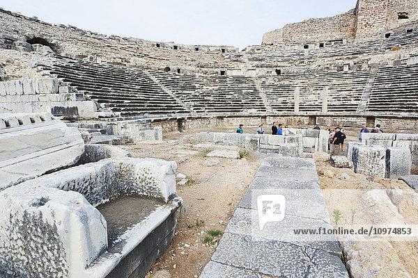 'Ruins of an amphitheatre; Miletus  Turkey'