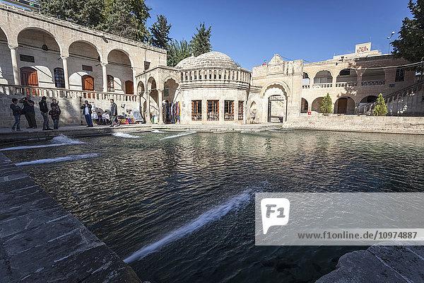 'Tourists at Chamber of Abraham; Sanliurfa  Turkey' 'Tourists at Chamber of Abraham; Sanliurfa, Turkey'