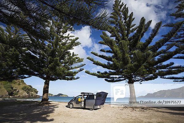 'Beachfront camping in Matauri Bay; Northland  New Zealand'