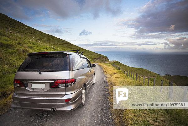 'A sunset drive on a northern Coromandel beach of Port Jackson; Waikato  New Zealand'