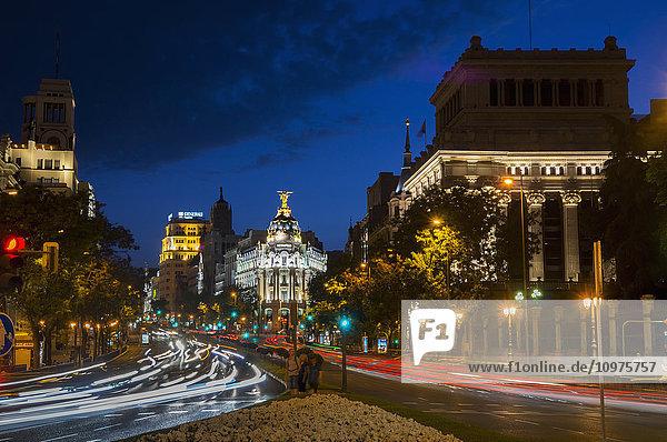 'Calle de Alcala  Plaza de Cibeles; Madrid  Spain'