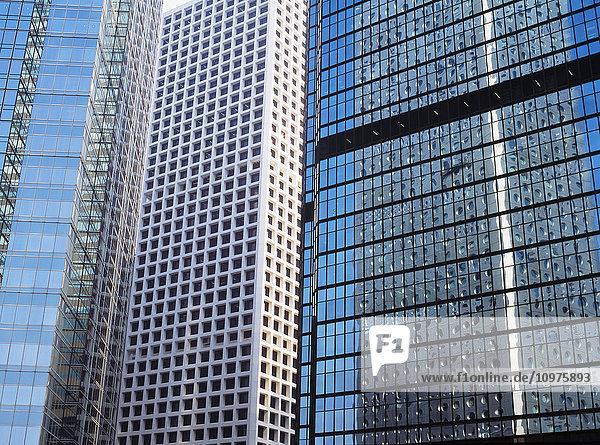 Reflections Of Office Blocks In Other Blocks Hong Kong China