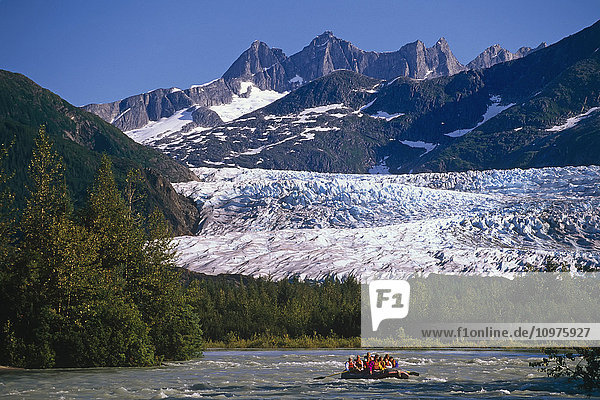 Rafters On Mendenhall River Mendenhall Glacier & Towers