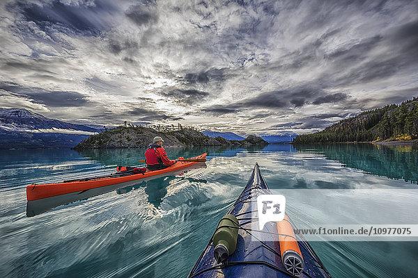 'Kayaking on Atlin Lake; Atlin  British Columbia  Canada'