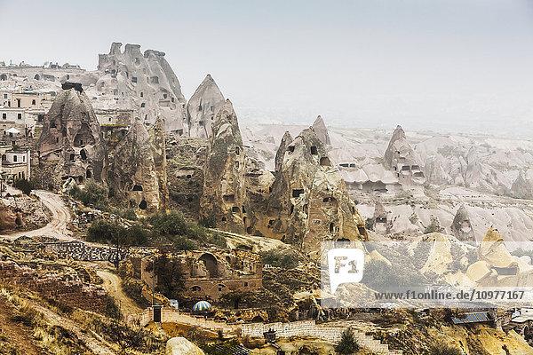 Dwellings in fairy chimneys: Goreme  Cappadocia  Turkey Dwellings in fairy chimneys: Goreme, Cappadocia, Turkey