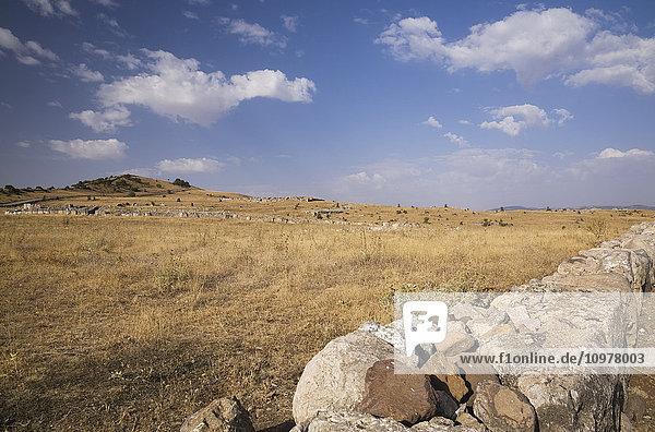 Settlement Structures At The Site Of The Ancient Hittite Capital City Of Hattusas  Bogazkale  Hattusas National Park  Central Anatolia  Turkey
