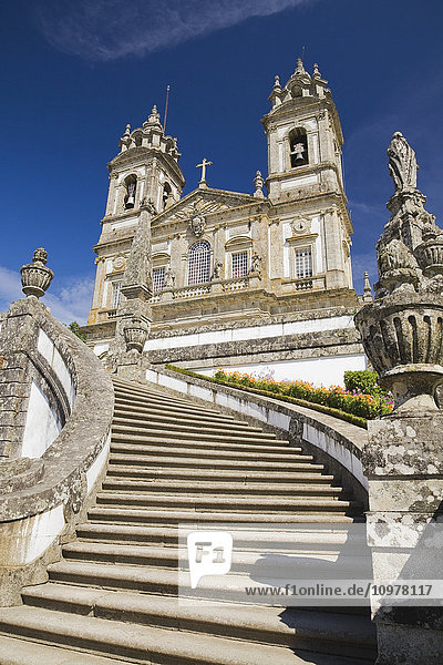 Church On The Grounds Of The Bom Jesus Sanctuary In Braga  Portugal  Europe