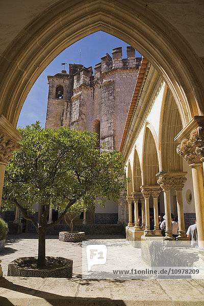 Inner Courtyard At The Convent Of Christ In Tomar  Portugal  Europe