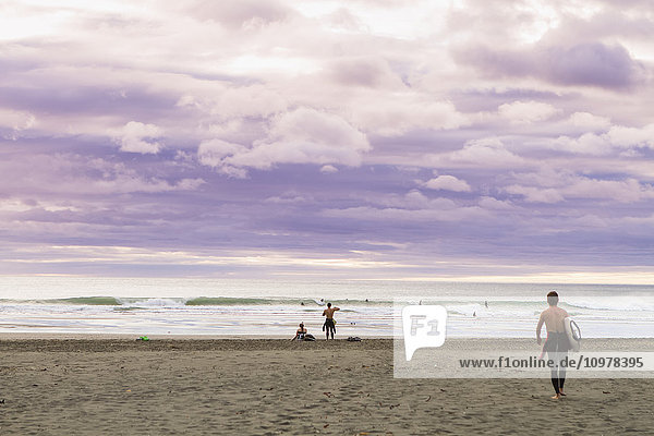 'A sunset at the surf beach of Piha  just outside of Auckland; Piha  Auckland  New Zealand'