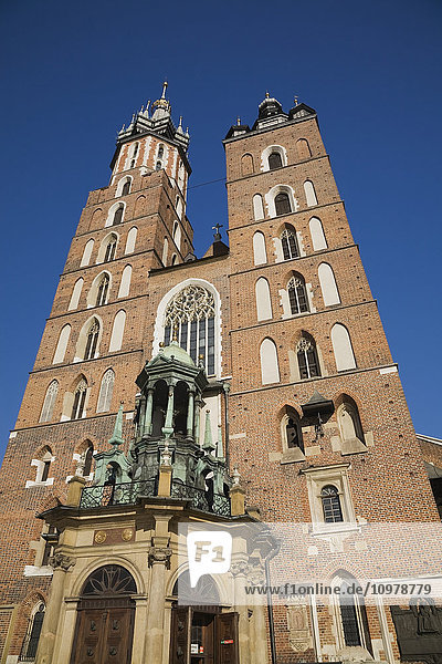 'St. Mary's Basilica In The Main Market Square; Cracow  Poland'