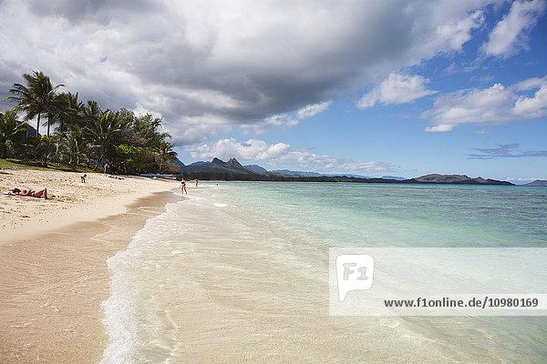 'Sunbathing at Kaiona Beach Park; Waimanalo  Oahu  Hawaii  United States of America'
