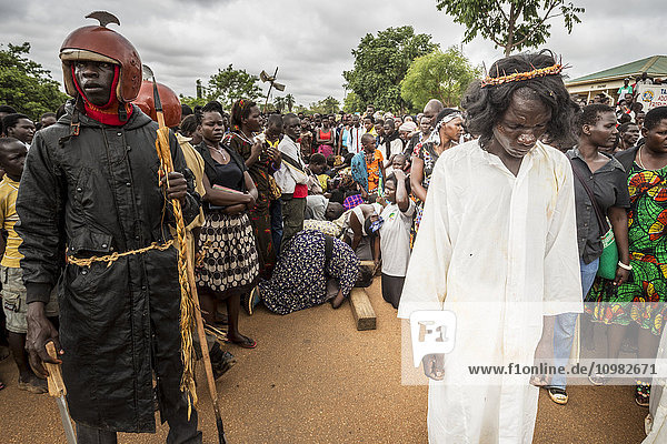 'Thousands gather on Good Friday to walk through the streets and proclaim the Gift of God; Gulu  Uganda' 'Thousands gather on Good Friday to walk through the streets and proclaim the Gift of God; Gulu, Uganda'