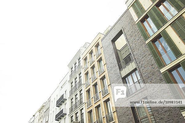 Deutschland  Berlin  Reihe moderner Stadthäuser Deutschland, Berlin, Reihe moderner Stadthäuser