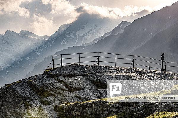 Switzerland  Grisons  Swiss Alps  Parc Ela  viewpoint