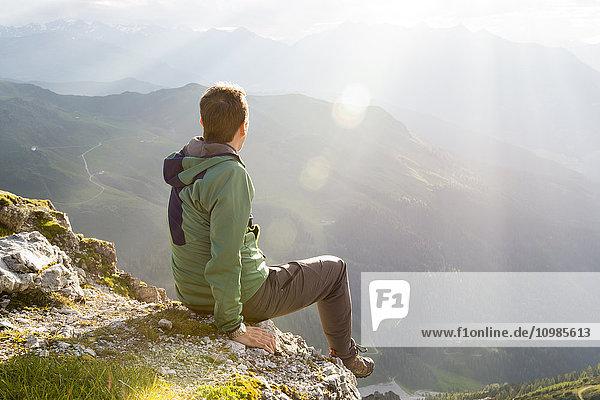 Austria  Tyrol  hiker