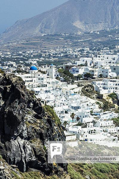Griechenland  Santorini  Blick nach Fira