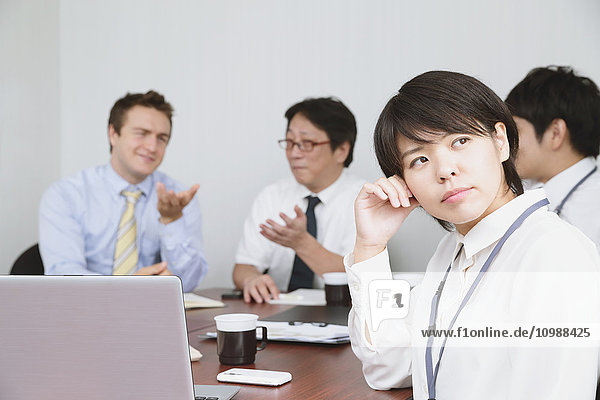 Multi-ethnic group of business people in the office