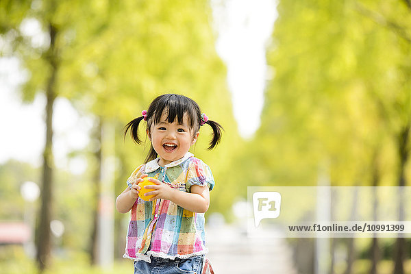 Kid playing in a park