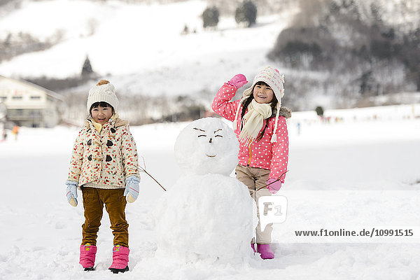 Kids playing in the snow