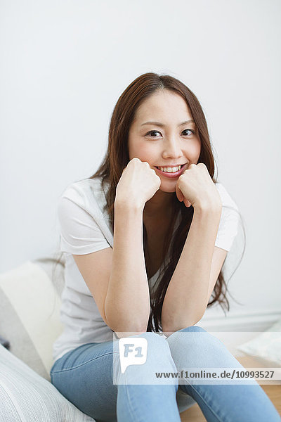 Young attractive Japanese woman portrait