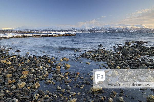 Coast in Winter  Nordbotn  Storevla  Tromso  Troms  Norway