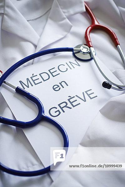 Doctor on strike.