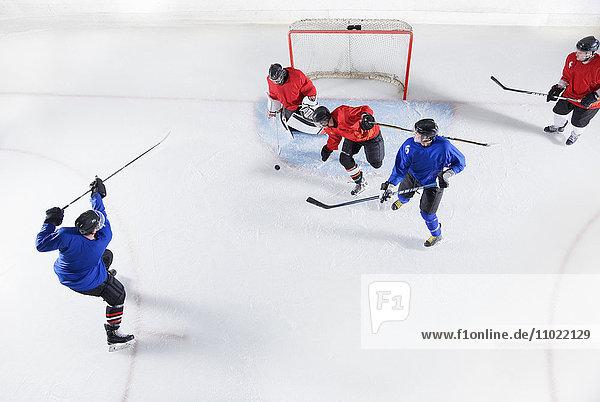 Hockeyspieler auf dem Eis