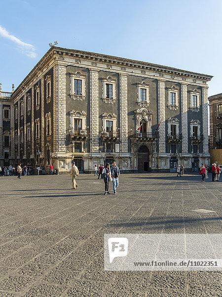 Italy  Sicily  Catania  Piazza del Doumo  Palazzo del Chierici