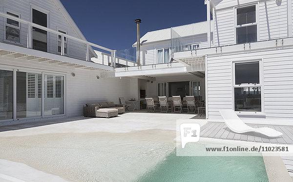 White house and sunny soaking tub