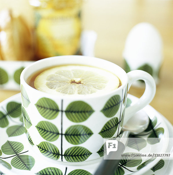 A cup of tea  close-up.