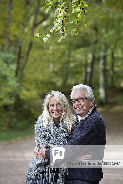 Smiling senior couple  Delsjon  Gothenburg  Sweden