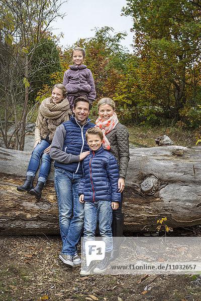 Family of five  Karlskrona  Blekinge  Sweden