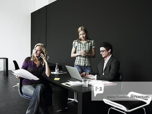 Colleagues in an office.