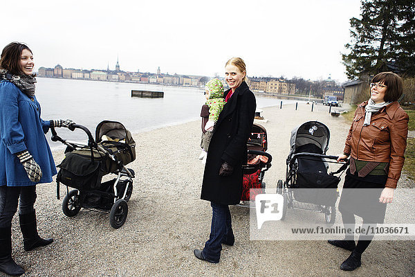 Mothers and perambulators  Sweden.
