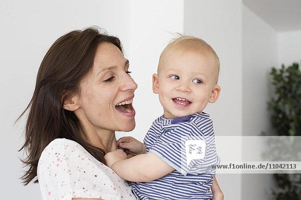 Mutter und Baby  Porträt