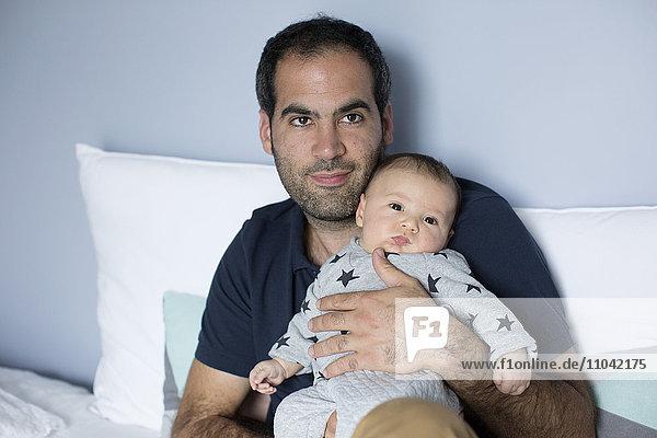 Vater mit Junge  Portrait