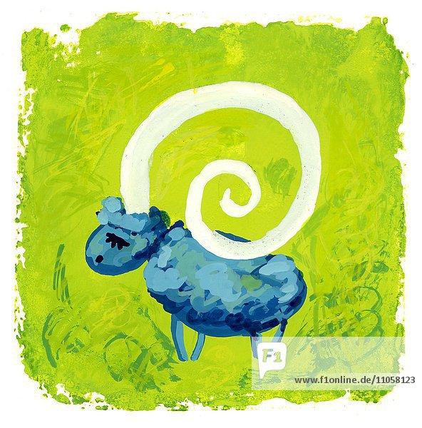 Sternzeichen Widder  Horoskop  Illustration