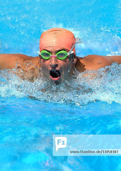 Schwimmer  Schmetterlingsstil