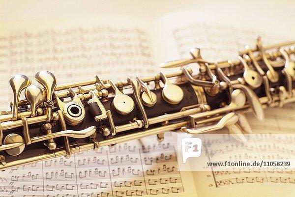 Oboe  Musiknoten